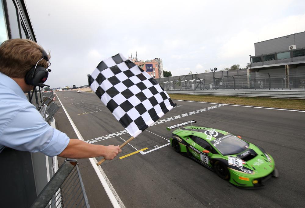 #16 GRT GRASSER RACING TEAM (AUT) LAMBORGHINI HURACAN GT3 ROLF INEICHEN (CHE) JEROEN BLEEKEMOLEN (NDL) MIRKO BORTOLOTTI (ITA) WINNER