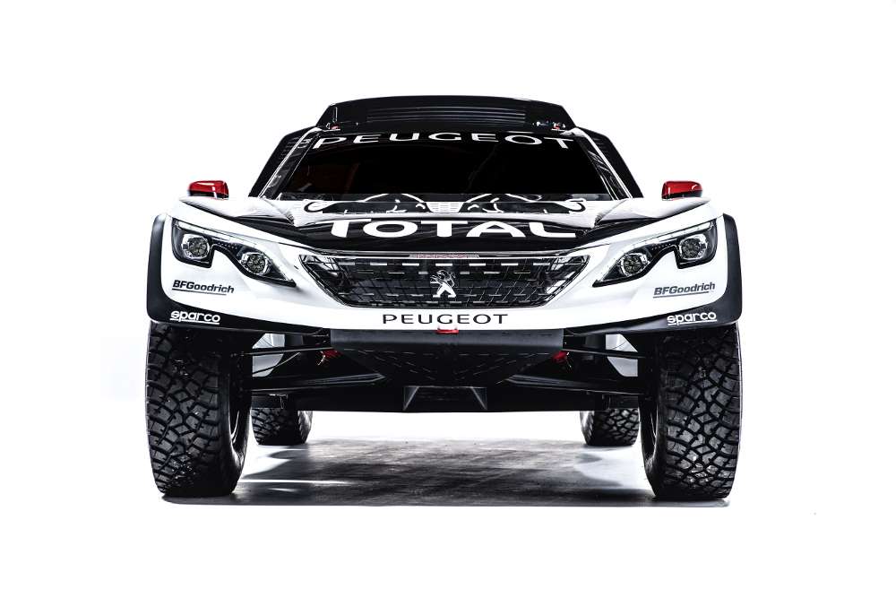 The new Peugeot 3008 DKR during a studio photoshoot at Paris, France on August 7, 2016.