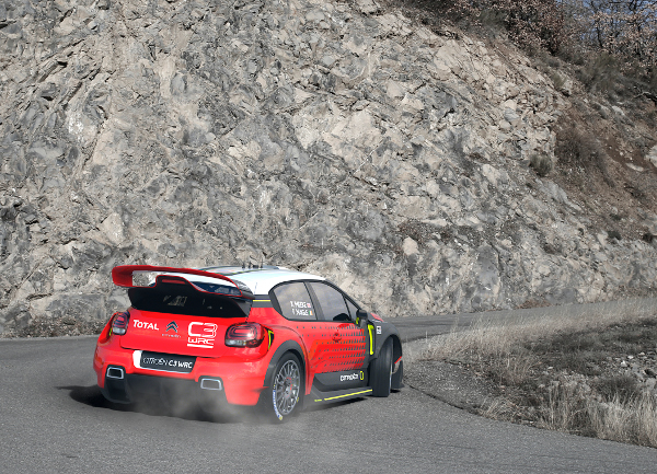 WRC RALLYE MONTE CARLO 2015 - PHOTO : CITROEN RACING/AUSTRAL 03 Citroen Total Abu Dhabi WRT, Meeke Kris, Nagle Paul, DS 3 WRC, Action