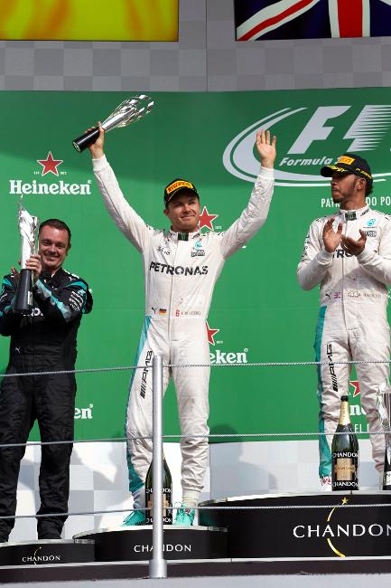 Formel 1 - MERCEDES AMG PETRONAS, Großer Preis von Mexiko 2016. Lewis Hamilton, Nico Rosberg ; Formula One - MERCEDES AMG PETRONAS, Mexican GP 2016. Lewis Hamilton, Nico Rosberg;