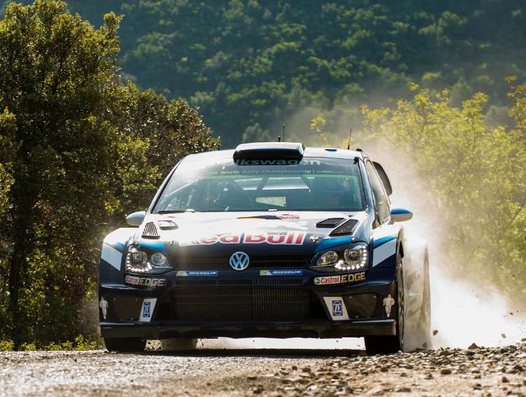 Sebastien Ogier (FRA) performs during  FIA World Rally Championship 2016 France in Ajaccio , France on October 1, 2016
