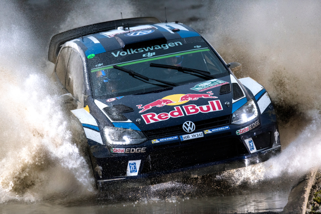 Sebastien Ogier (FRA) performs during FIA World Rally Championship in Deeside, Great Britain on 28  November 2016