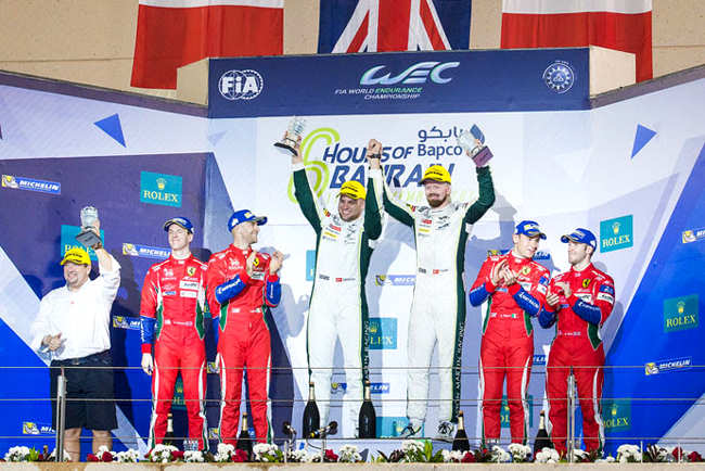 Podium at the WEC 6 Hours of Bahrain - Bahrain International Circuit - Sakhir - Bahrain