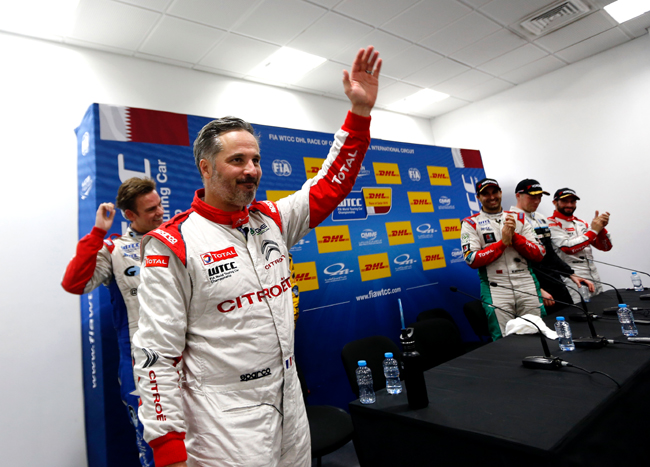 MULLER Yvan (fra) Citroen C Elysee team Citroen TOTAL WTCC portrait ambiance during the 2016 FIA WTCC World Touring Car Championship race at Losail  from November 23 to 25 Qatar - Photo Clement Marin / DPPI